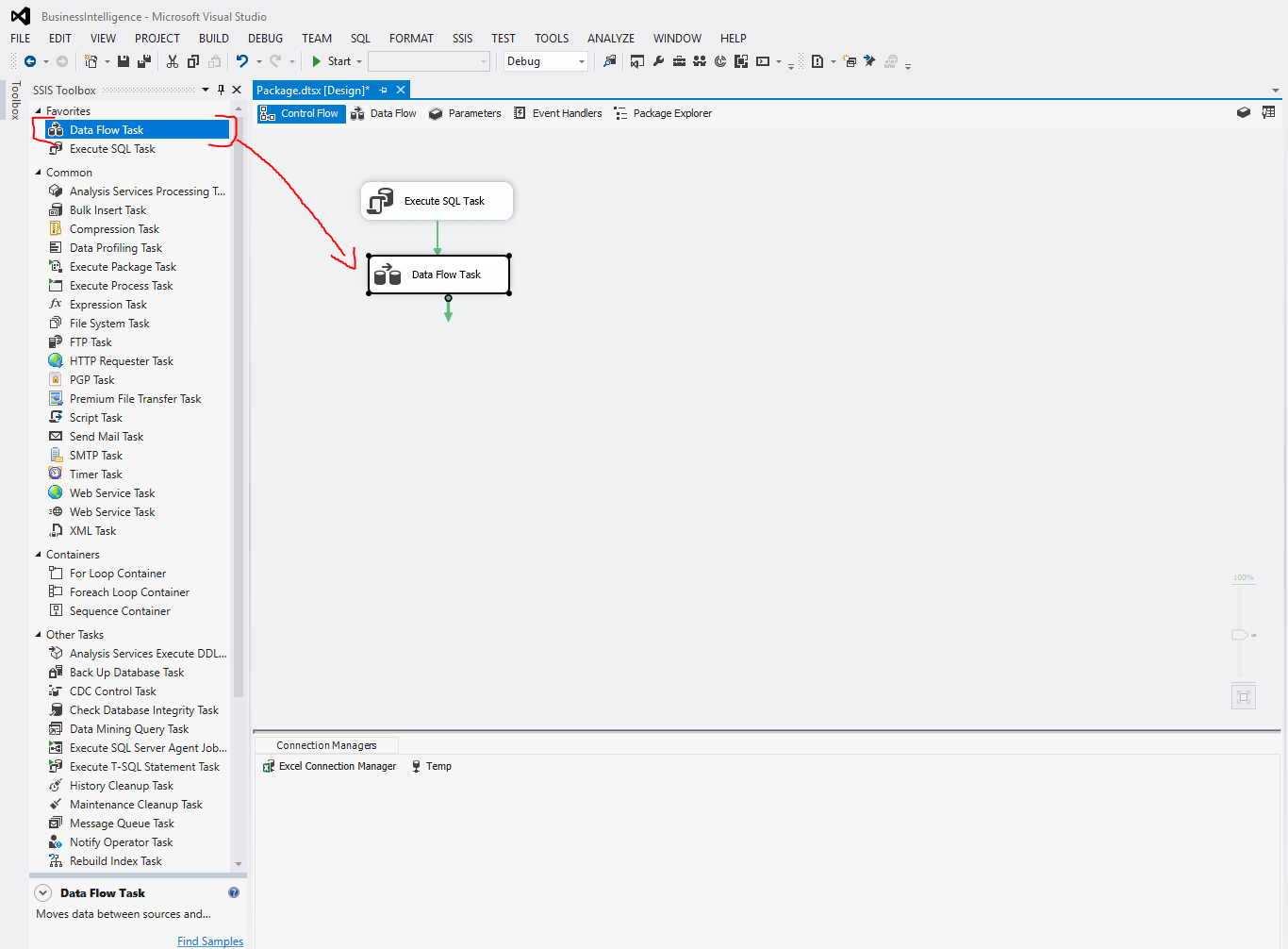 Data flow task SSIS